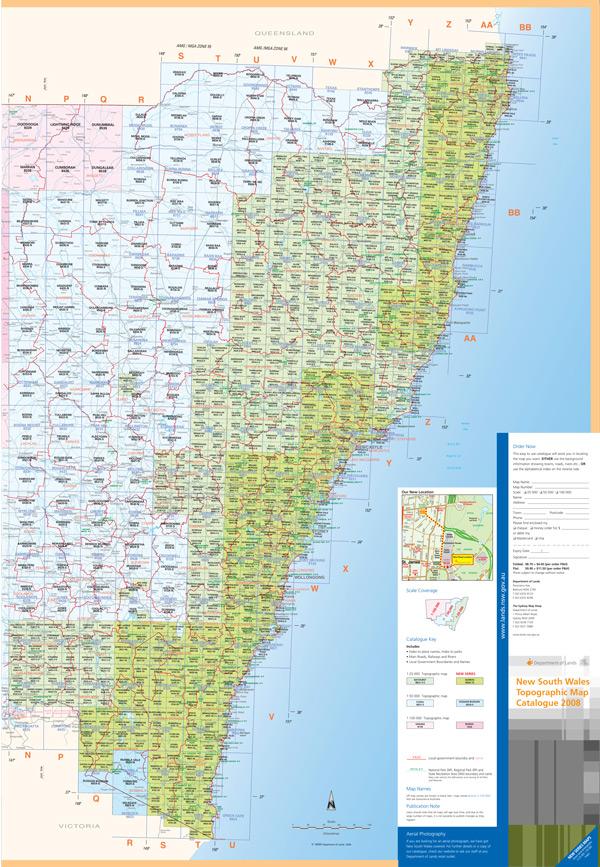 NSW LPI topo map index