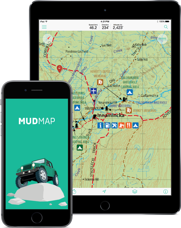 Mud Map 3 | 4WD Maps + GPS app for iPhone and iPad